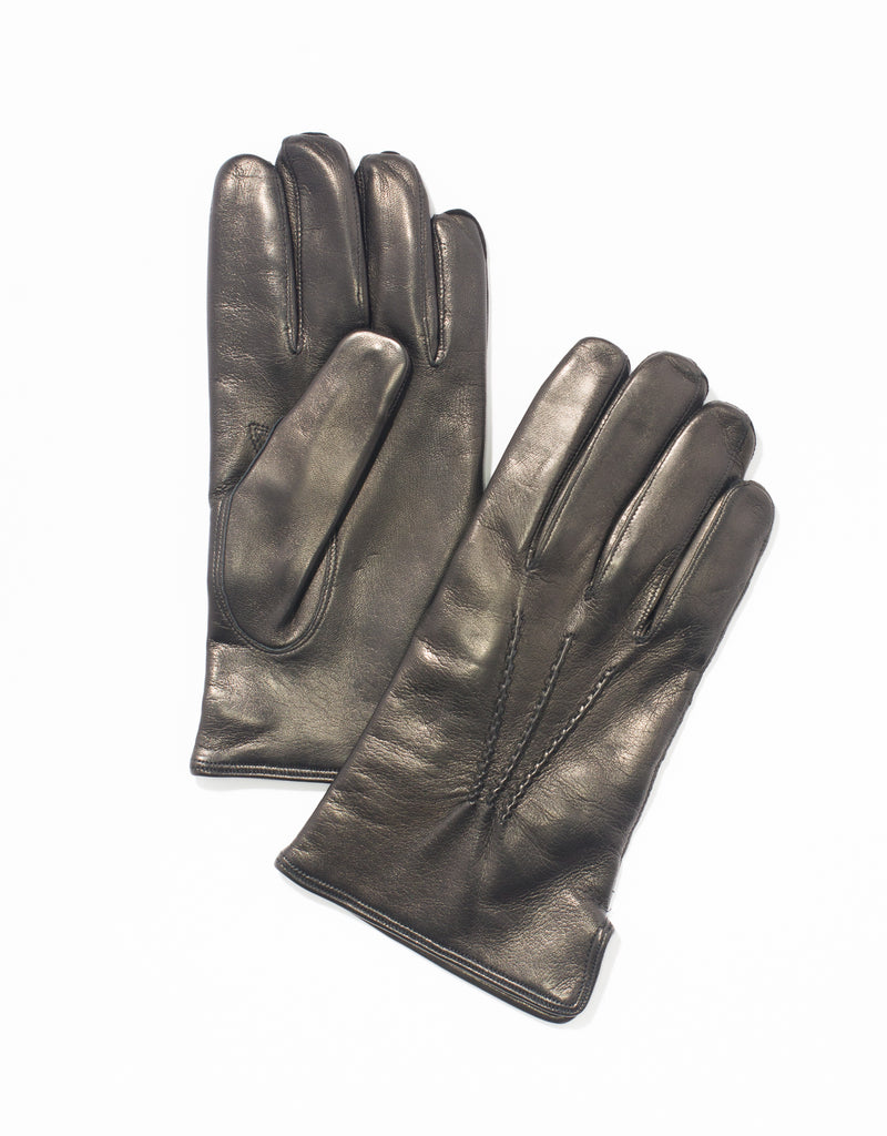 BLACK NAPPA LEATHER GLOVES