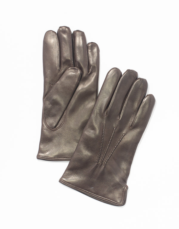 BROWN NAPPA LEATHER GLOVES