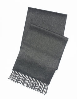 100% CASHMERE SOLID MUFFLER - CHARCOAL