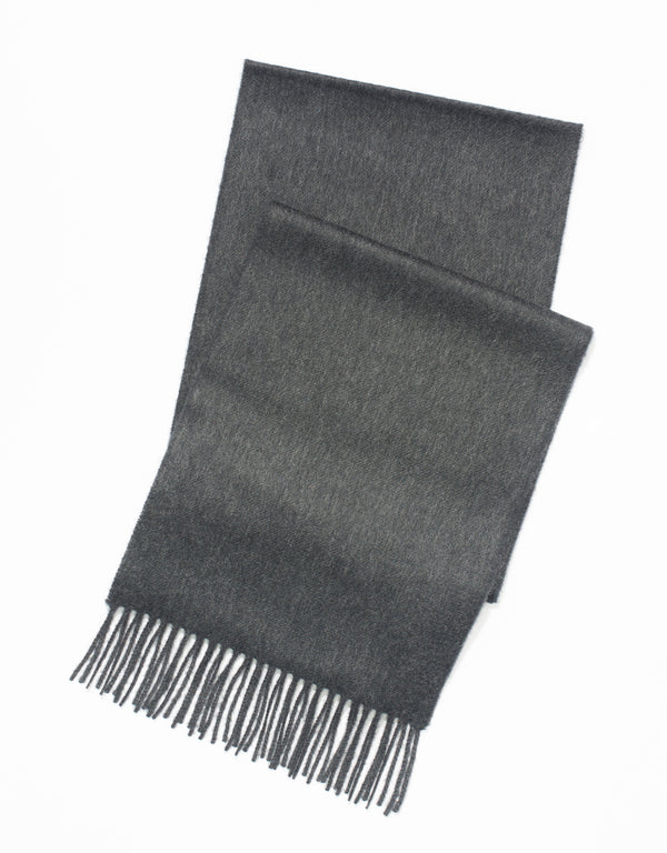 100% CASHMERE SOLID - CHARCOAL