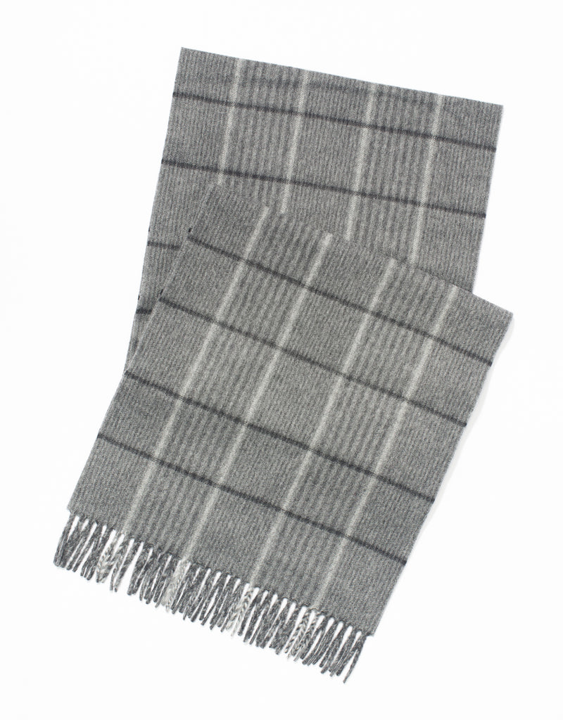 ESCORIAL WOOL SCARF - GREY/CHARCOAL