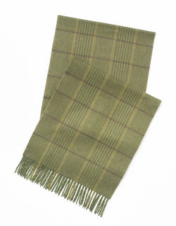 ESCORIAL WOOL SCARF - OLIVE/GREEN