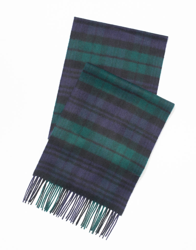 LAMBSWOOL TARTAN SCARF-BLACKWATCH