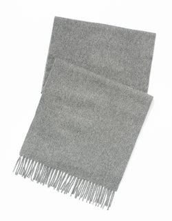 ESCORIAL WOOL SCARF - MID GREY