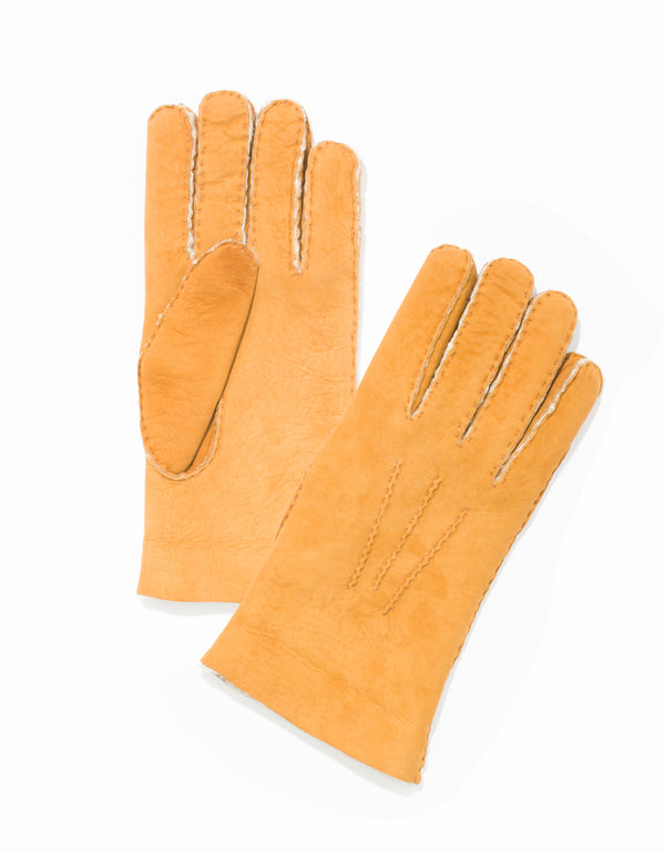 SHEARLING GLOVES-CHESTNUT