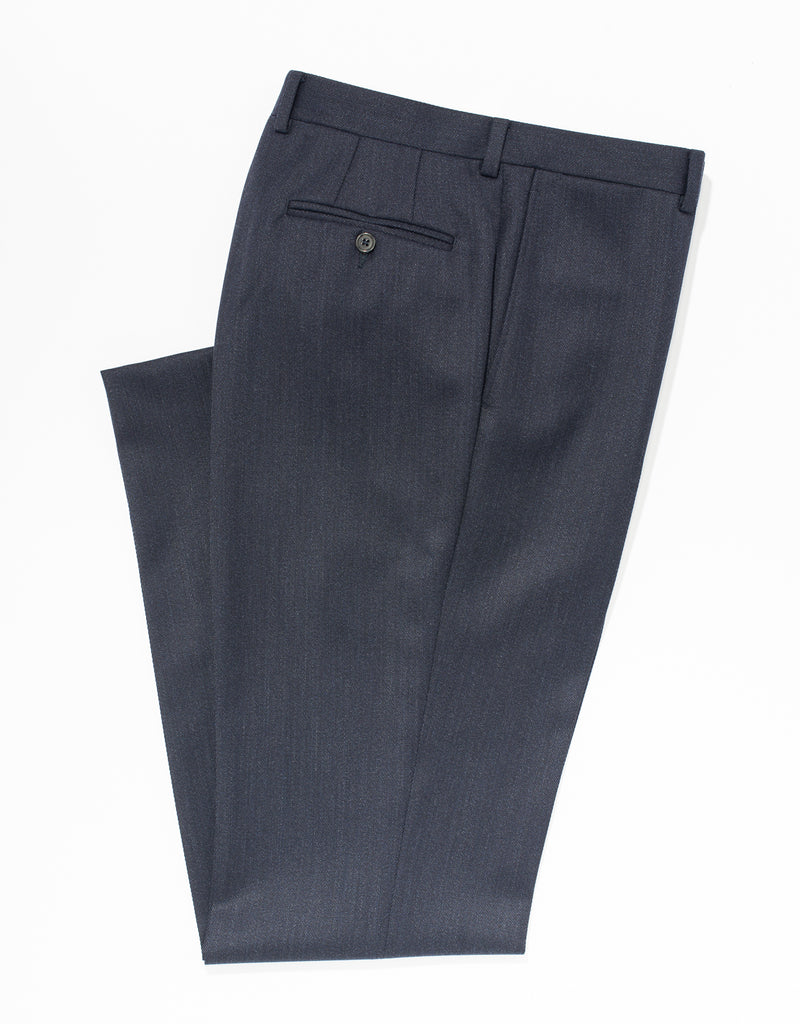 BLUE WHIPCORD TROUSERS - CLASSIC FIT