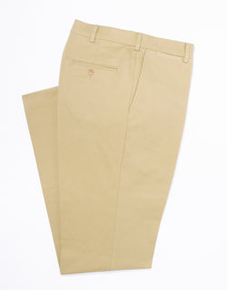 BEIGE BRUSHED TWILL PANTS