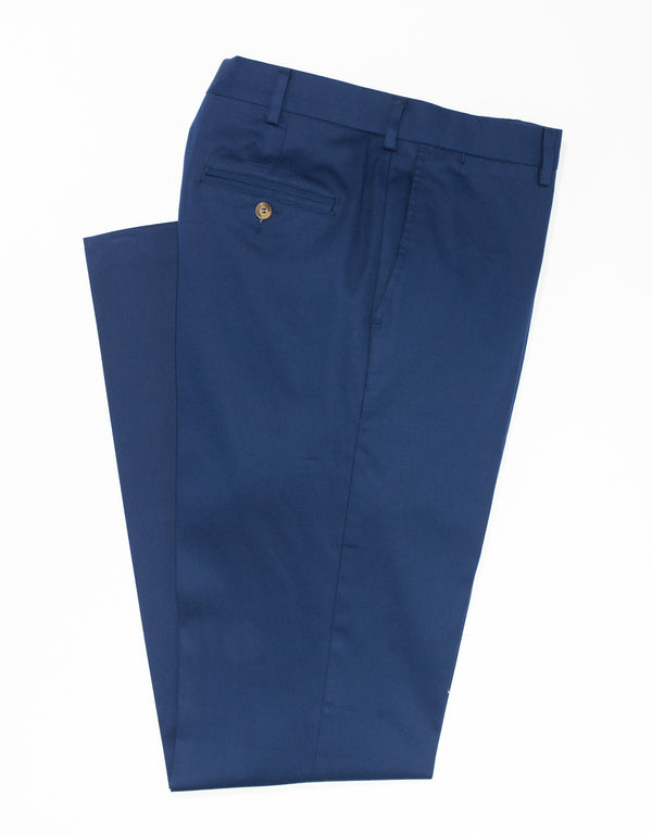 WASHED TWILL CHINO CLASSIC TROUSERS - NAVY