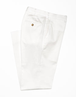 J. PRESS WASHED TWILL CHINO CLASSIC TROUSERS - WHITE