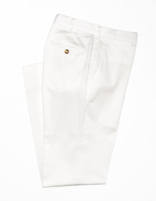 WASHED TWILL CHINO CLASSIC - WHITE