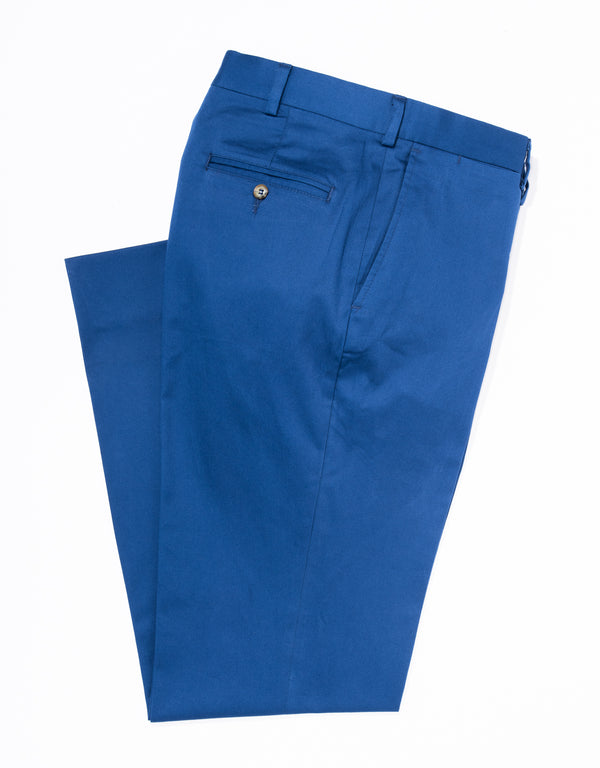 J, PRESS WASHED TWILL CHINO CLASSIC TROUSERS - DARK BLUE