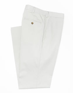 J. PRESS POPLIN CLASSIC TROUSERS - GREY