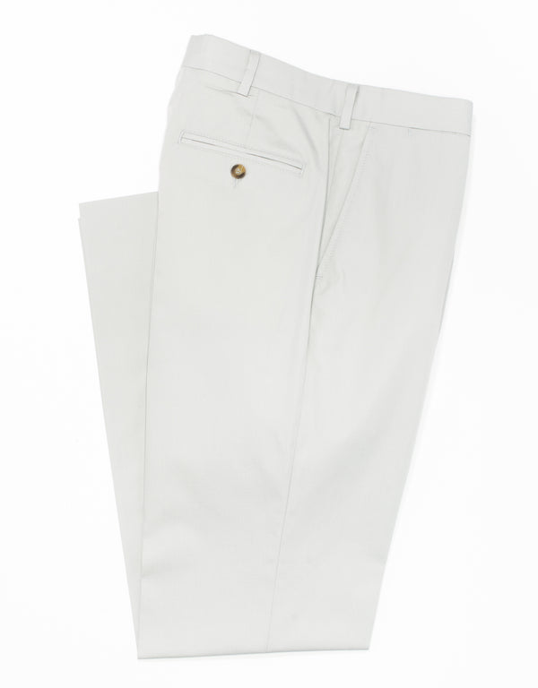 COTTON POPLIN CLASSIC TROUSERS - GREY