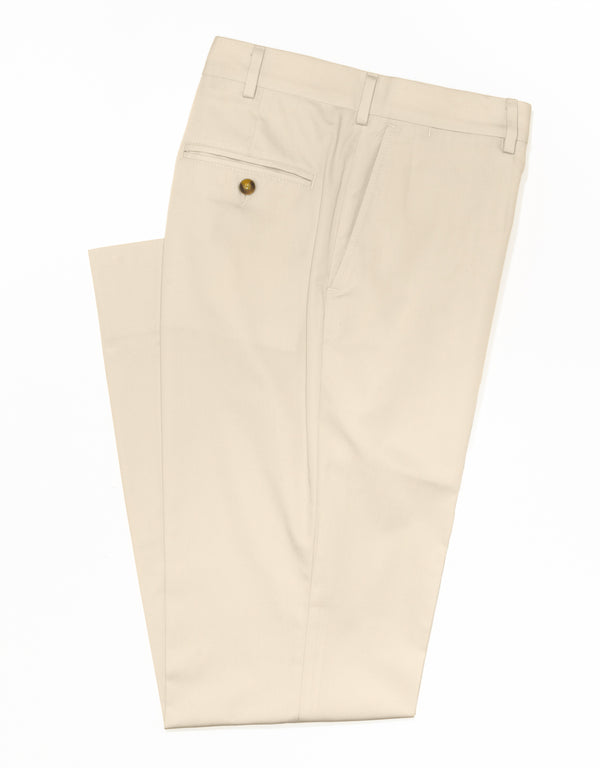 J. PRESS POPLIN CLASSIC TROUSERS - LIGHT TAN