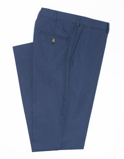 J. PRESS POPLIN CLASSIC TROUSERS - NAVY