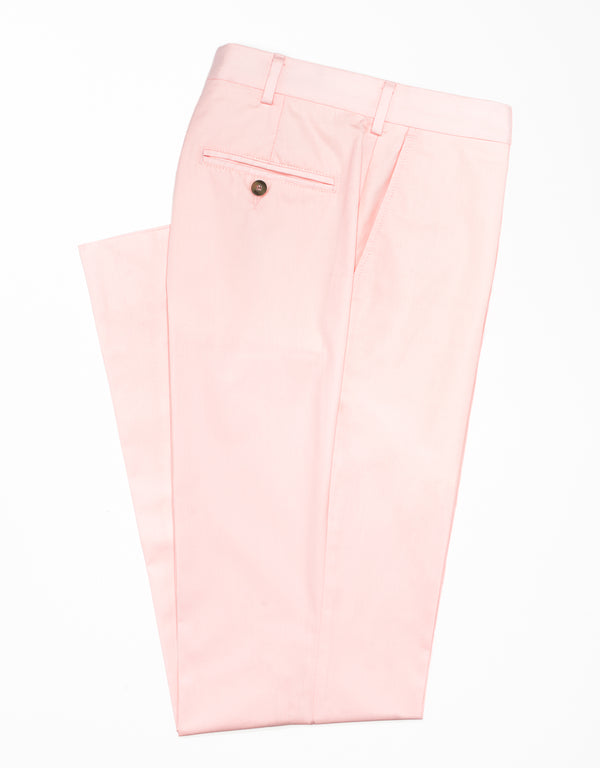 COTTON POPLIN CLASSIC TROUSERS - PINK
