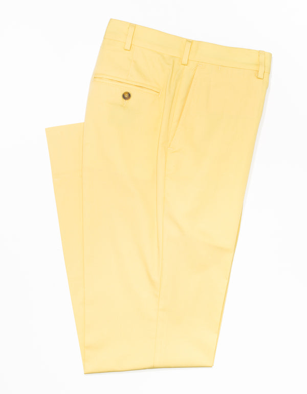 J. PRESS POPLIN CLASSIC TROUSERS - YELLOW