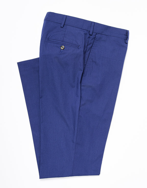 POPLIN CLASSIC TROUSERS - DARK BLUE
