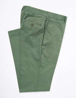 WASHED TWILL CHINO CLASSIC TROUSERS - GREEN
