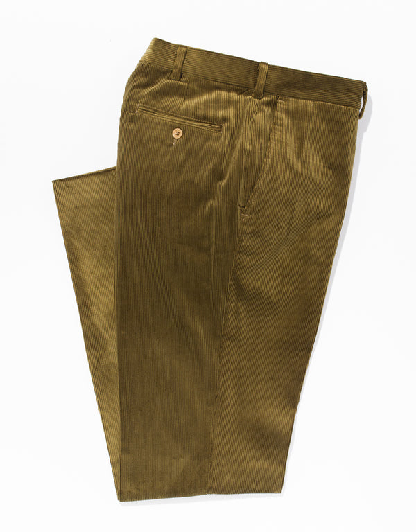 CORDUROY CLASSIC PANTS - BROWN/OLIVE