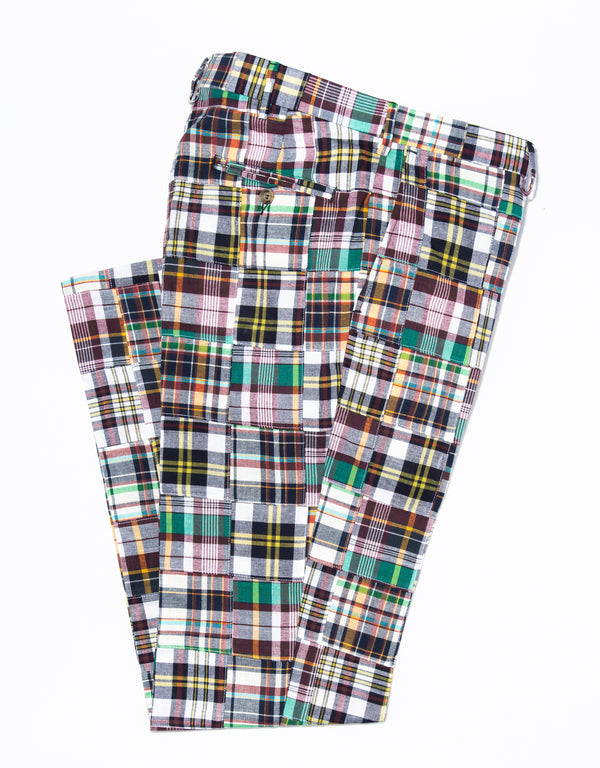 J. PRESS PATCHWORK MADRAS TROUSERS
