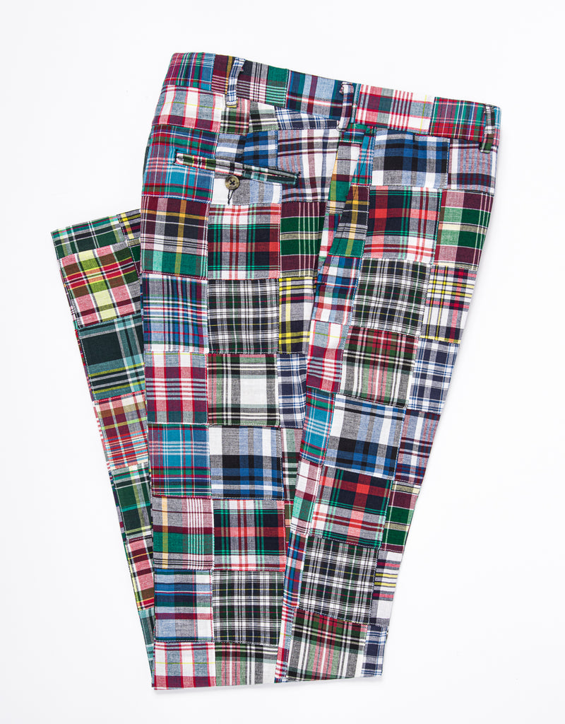MADRAS CLASSIC TROUSERS - PATCHWORK