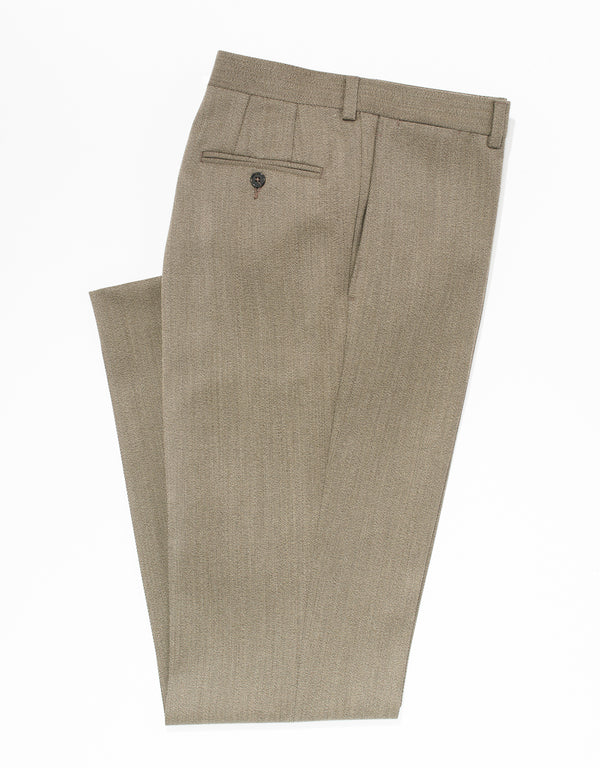 BRN/OLIVE WHIPCORD TROUSERS