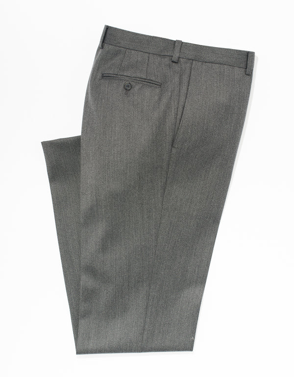 GREY WHIPCORD TROUSERS