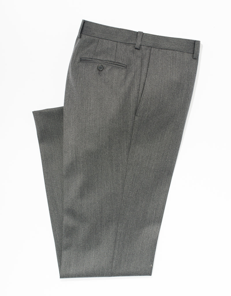 GREY WHIPCORD TROUSERS - CLASSIC FIT