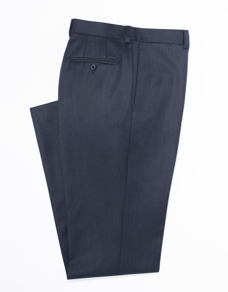 DARK BLUE WHIPCORD TROUSERS