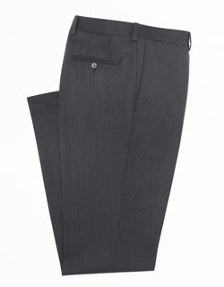 CHARCOAL COVERT CLOTH TROUSERS