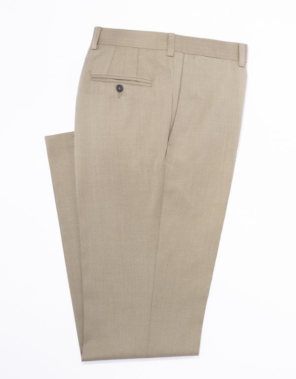 TAN COVERT CLOTH TROUSERS