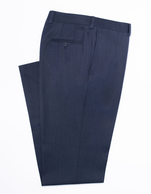 DARK BLUE COVERT TROUSERS