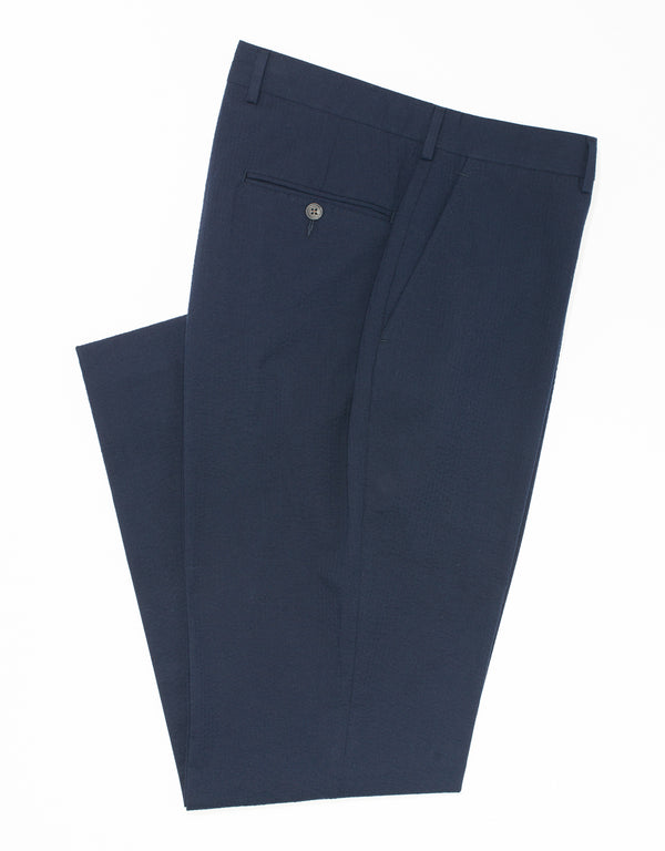 J. PRESS NAVY SEERSUCKER TROUSERS
