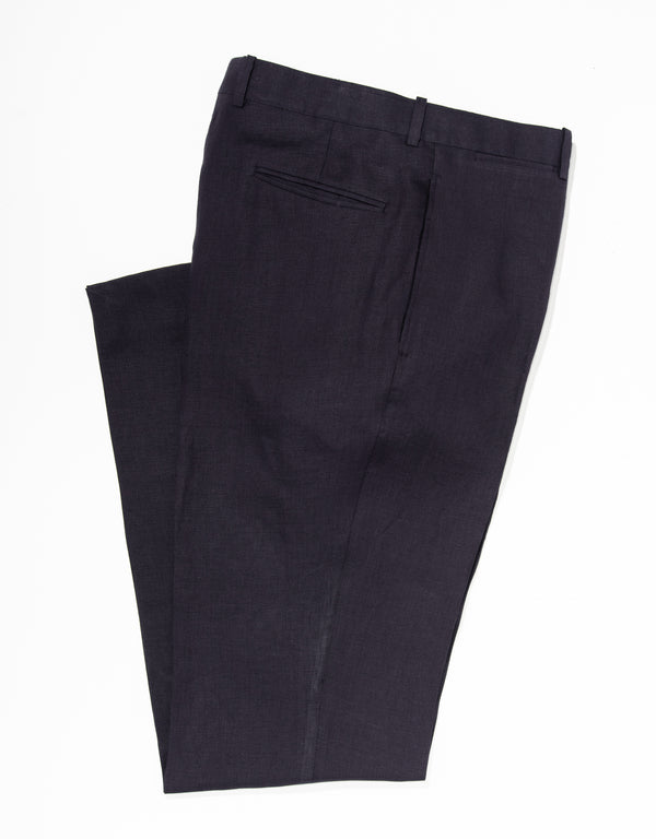 J. PRESS NAVY LINEN TROUSERS