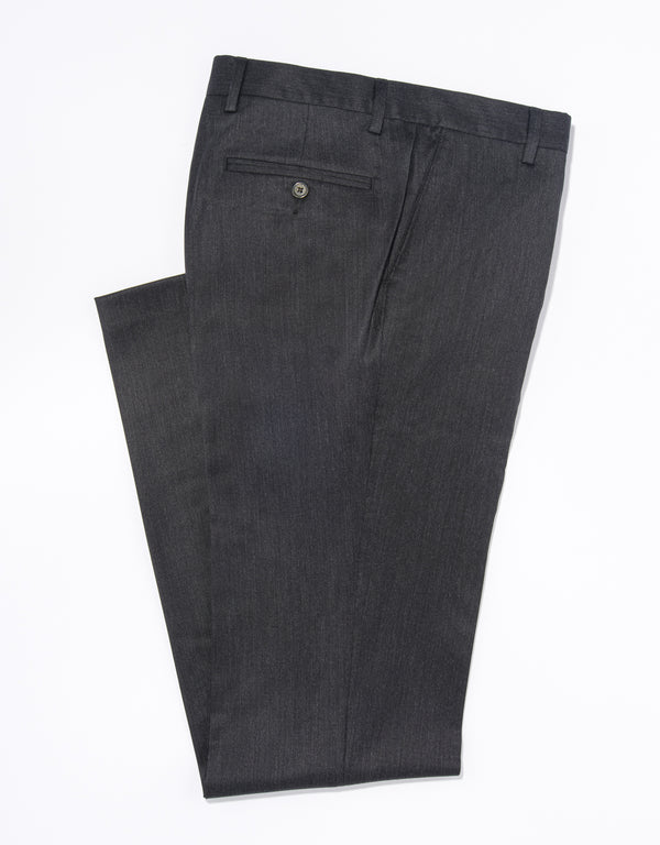 WOOL GABARDINE TROUSERS - CHARCOAL