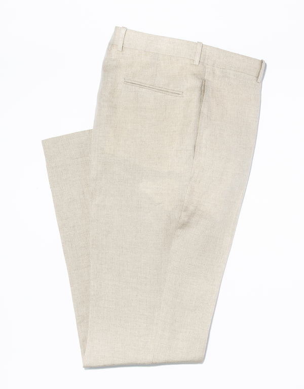 J. PRESS TAN LINEN TROUSERS