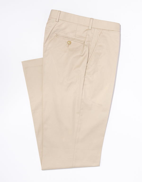 TAN EGYPTIAN COTTON TROUSERS