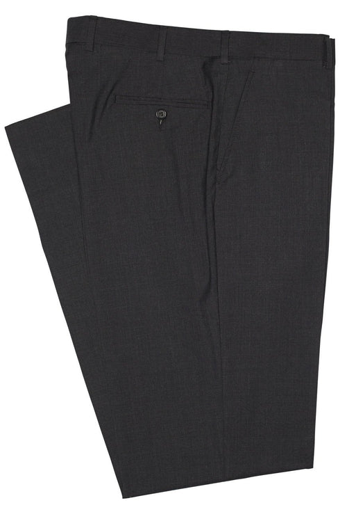ITALIAN WOOL TROUSERS - CHARCOAL SOLID