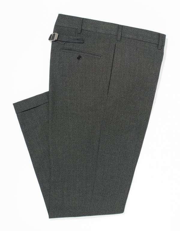 GREY TRIM FIT TROUSERS