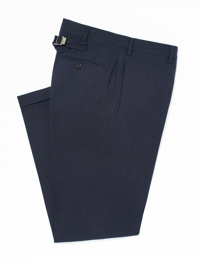 NAVY TRIM FIT TROUSERS