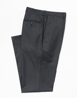 J. PRESS CHARCOAL WOOL TWILL TROUSERS - CLASSIC FIT