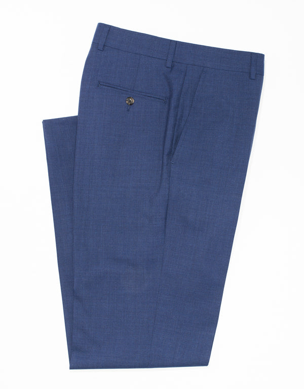 CAMBRIDGE BLUE WOOL TROPICAL TROUSERS - CLASSIC FIT