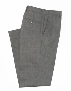 GREY WOOL TROPICAL TROUSERS
