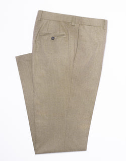 LIGHT BROWN FLANNEL TROUSERS