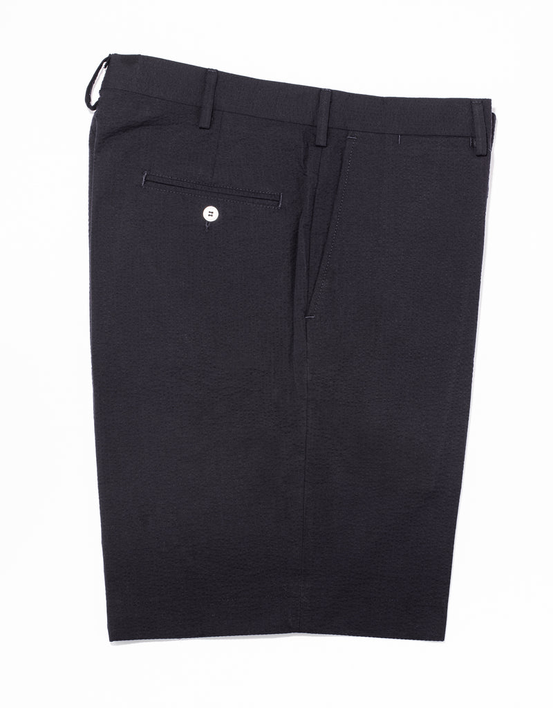 J. PRESS SEERSUCKER SHORTS - NAVY