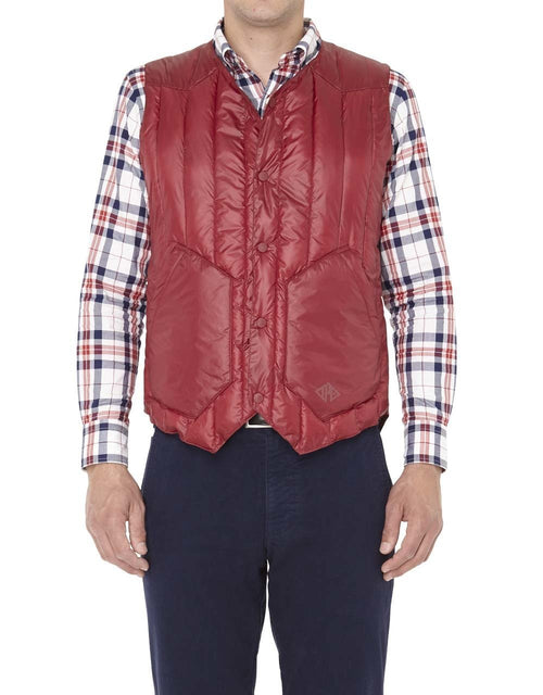 NYLON QUILTED VEST- RED