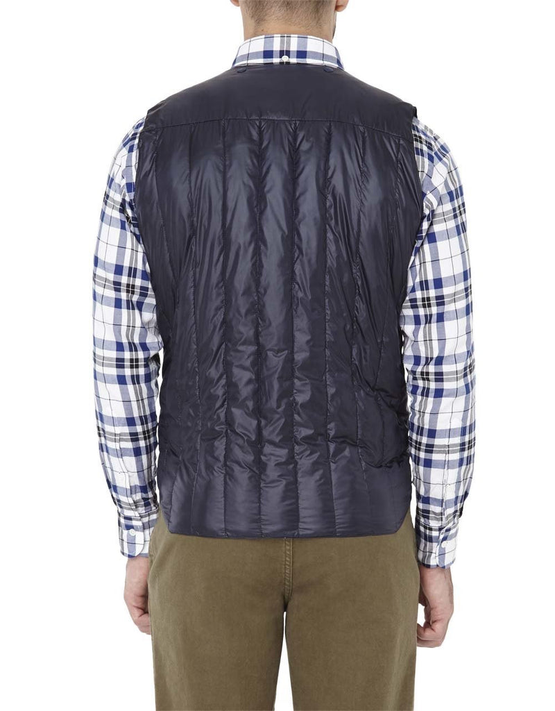 NYLON QUILTED VEST - NAVY