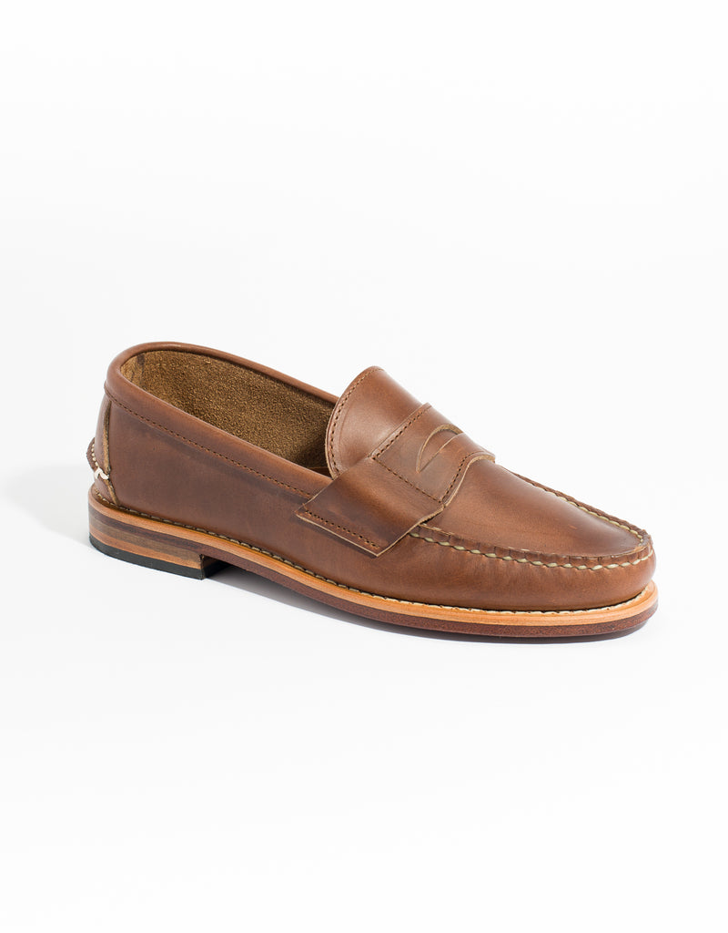 RANCOURT HALF MOON PENNY LOAFER - BROWN