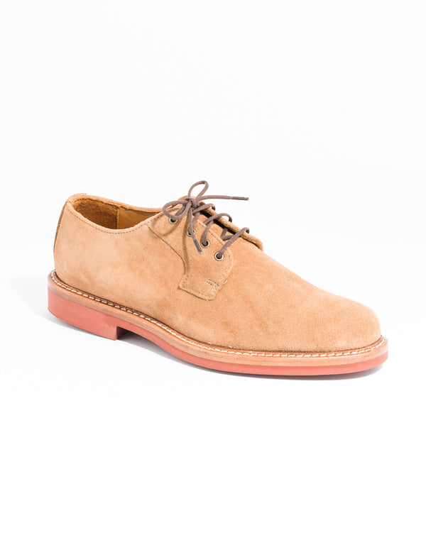 RANCOURT SUEDE 4 EYELET DERBY- CAMEL